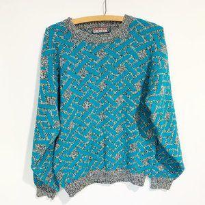 Vintage 80s 90s Saturdays Generation Sweater Size